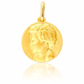 Médaille Enfant de Profil Gauche Or Jaune