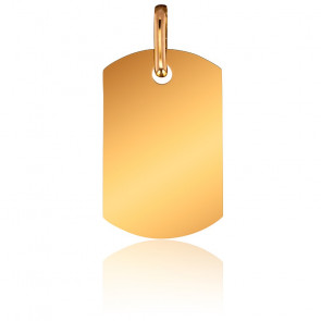 Pendentif Plaque Or Jaune 9K, 12 x 19 mm