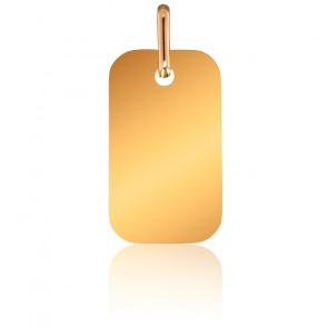 Pendentif Plaque Or Jaune 18K, 11 x 19 mm