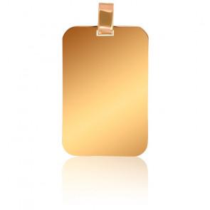 Pendentif Plaque Or Jaune 18K, 22 x 33 mm