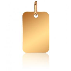 Pendentif Plaque Or Jaune 18K, 14 x 21 mm