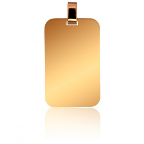 Pendentif Plaque Or Jaune 18K 16 x 25 mm
