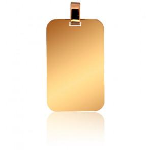 Pendentif or jaune 9K plaque 16 x 25 mm