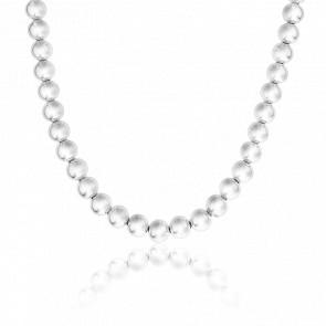 Collier Perles Argent 50 cm