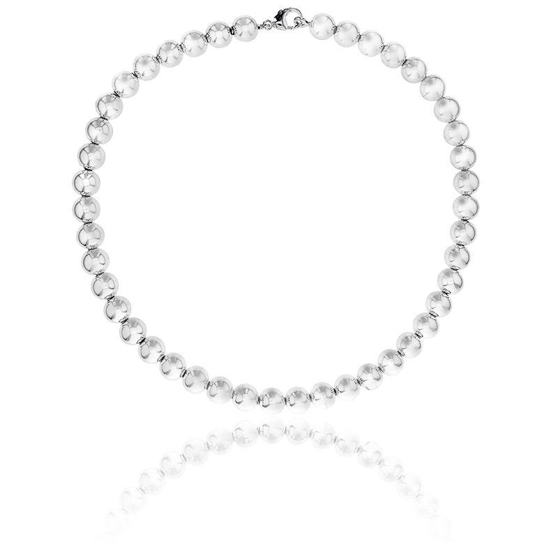 collier perle et argent