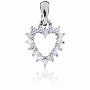 Pendentif Valentina Or Blanc & Diamants