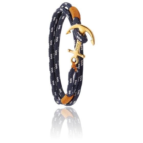 Bracelet Ancre Laiton Plaqué Or 24K