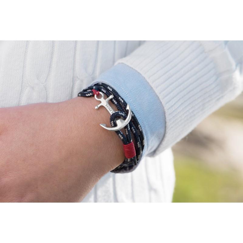 bracelet tom hope blanc et bleu. Black Bedroom Furniture Sets. Home Design Ideas