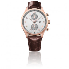Small Chrono Rose gold silver brown