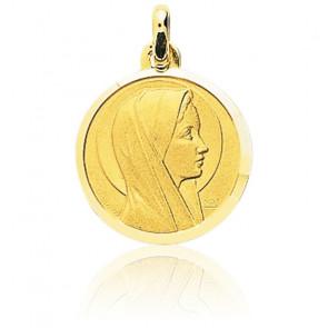 Médaille Ronde Vierge de Profil Or Jaune