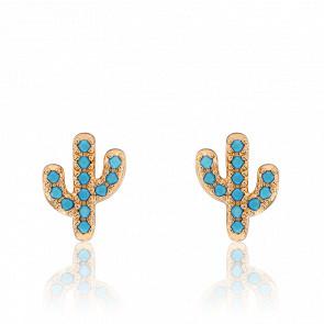 Puces d'Oreilles Saguaro Plaqué Or Jaune