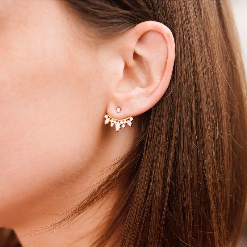 Boucles d'oreilles balancier argent