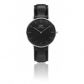 Classic Black Silver Sheffield 36mm