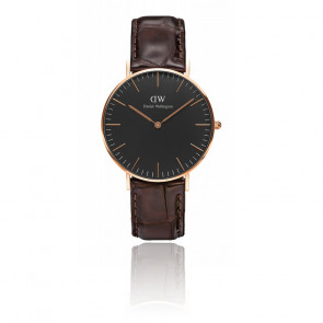 Classic Black Rose Gold York 36mm