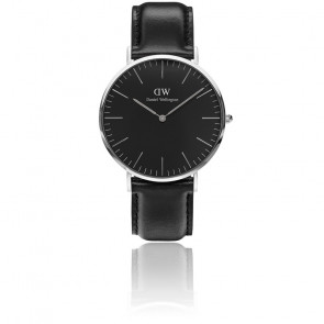 Classic Black Silver Sheffield 40mm