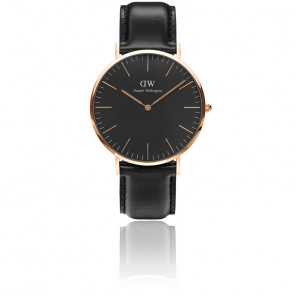 Classic Black Rose Gold Sheffield 40mm