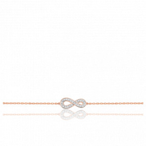 Bracelet Infini Diamants & Or Rose 18K