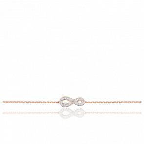 Bracelet Infini Or Rose 18K \u0026 Diamants