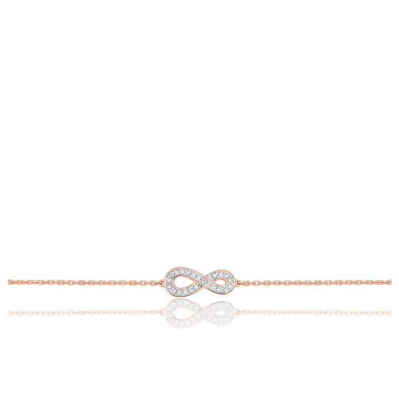 Bracelet Infini Diamants & Or Rose 18K