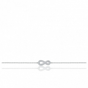 Bracelet Infini Diamants & Or Blanc 18K