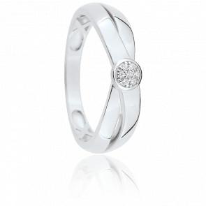 Bague Irisa Or Blanc & Diamant