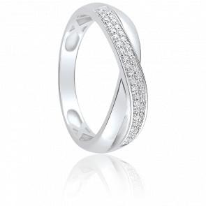Bague Alamandra Or Blanc & Diamants