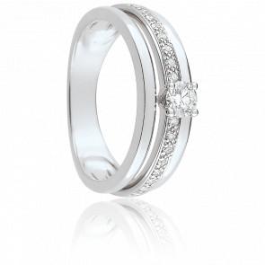Bague Tamara Or Blanc & Diamants
