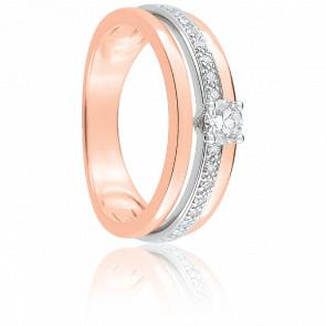 Bague Tamara Or Rose & Diamants