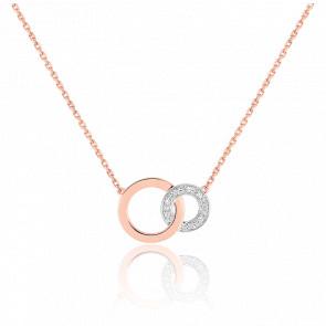 Collier Cercles Infini 2 Ors 18K & Diamant