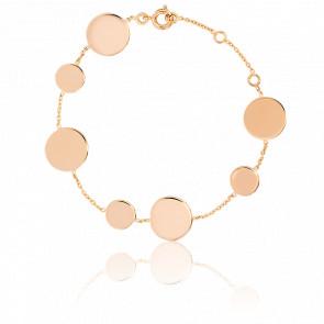 Bracelet Disques Plaqué Or Jaune
