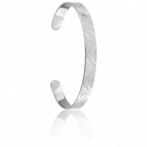 Bracelet Demi-Jonc Maya Argent
