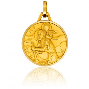 Médaille Saint Christophe Ø18mm Or Jaune 18K