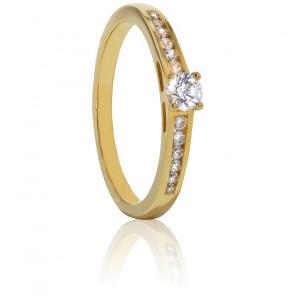 Solitaire Bianca Diamants 0,20ct & Or Jaune 9K