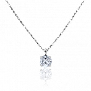 Pendentif Rose des Vents Or Blanc & Diamants 0,30ct