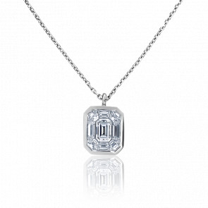 Pendentif Etoile du Sud Or Blanc & Diamants 1ct