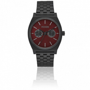Time Teller Deluxe All Black / Deep Burgundy A922-2346