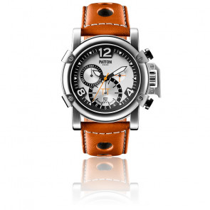 Chrono Steel Brown Leather