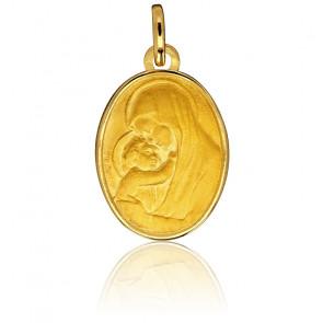 Médaille Ovale Vierge à l'Enfant Or Jaune