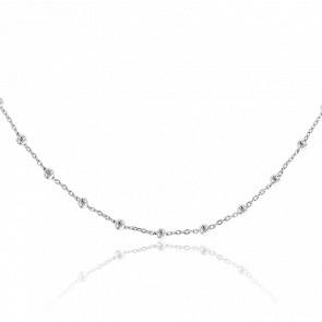 Collier Sautoir Perles Argent