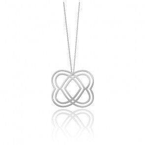 Collier Medium Heart Argent