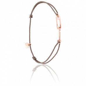 Bracelet Osmose Vermeil Rose Cordon Taupe