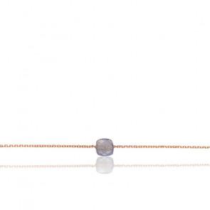 Bracelet Chaîne Labradorite Plaqué Or Rose