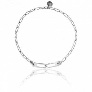 Bracelet Osmose Chaîne Figaro Argent