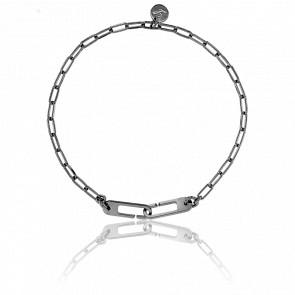 Bracelet Osmose Chaîne Figaro Black