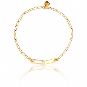 Bracelet Osmose Chaîne Figaro Vermeil Jaune