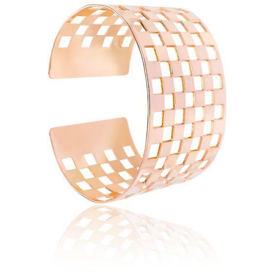 Bracelet Manchette Damier Vermeil Rose
