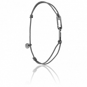Bracelet Osmose Black Cordon Gris