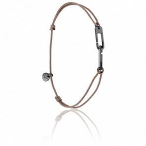 Bracelet Osmose Black Cordon Taupe