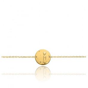 Bracelet Chaîne Forçat Petit Prince Planète Or Jaune 18K