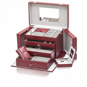 Coffret à Bijoux Chrome Rouge